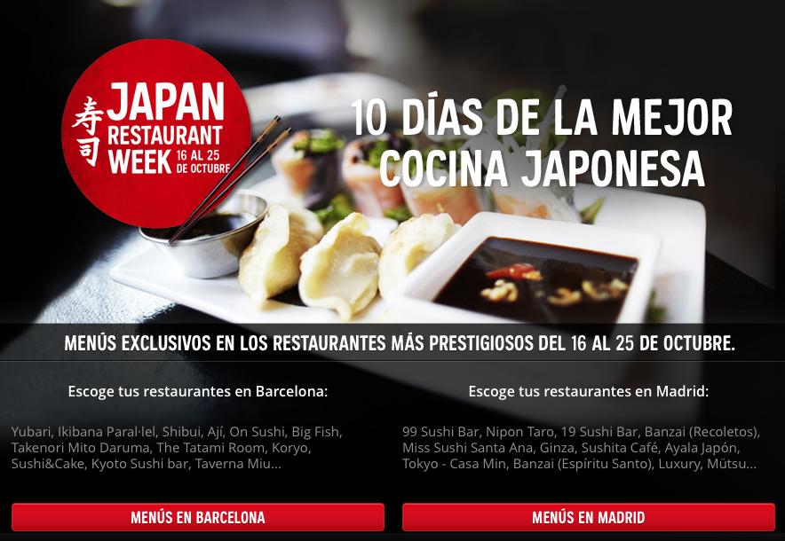 Atrapalo Japan Restaurant Week #dondesibcn