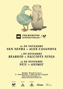Encuentros Ornitorrincos #dondesibcn